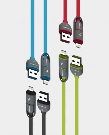 pn-301 pineng micro usb ve ligthning data kablosu, şarj kablosu