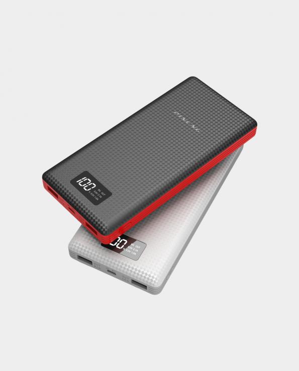 pn-969 powerbank, beyaz/gri ve siyah/kırmızı